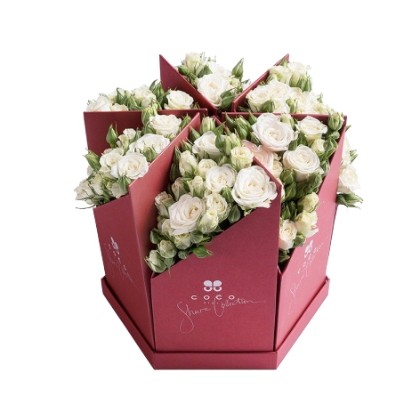 首页 靡尚包装产品中心 礼盒订制 鲜花礼盒订制  【礼盒盒形】:通用